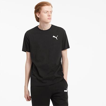 Męski T-shirt Essentials z małym logo, Puma Black-Cat, small