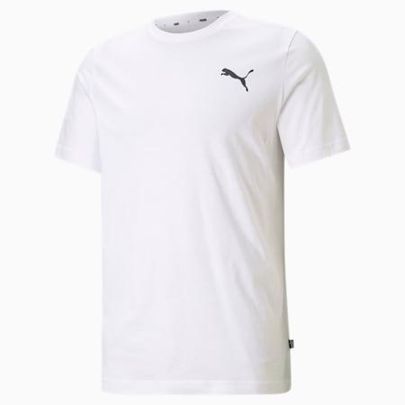 Essentials Small Logo Men's Tee, Puma White-Puma White-Cat, small-GBR
