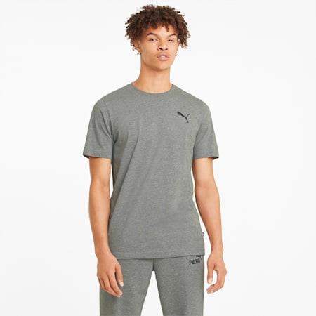 Essentials T-shirt heren met klein logo, Medium Gray Heather-Cat, small