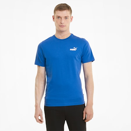 Essentials T-shirt heren met klein logo, Puma Royal, small
