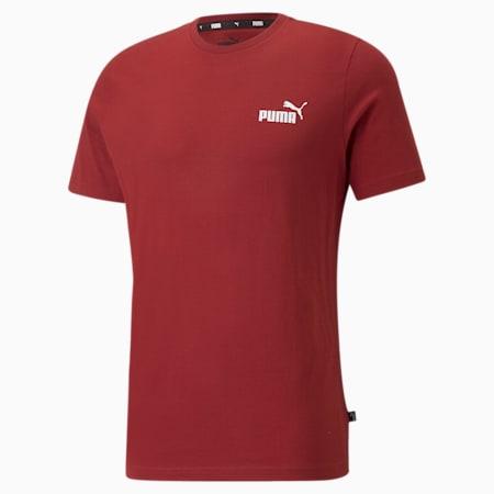 Essentials Small Logo Regular Fit Men's  T-shirt, Intense Red, small-IND