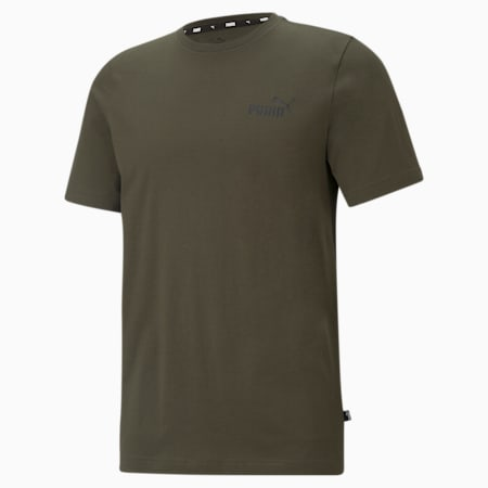 Essentials Small Logo Regular Fit Men's  T-shirt, Forest Night, small-IND