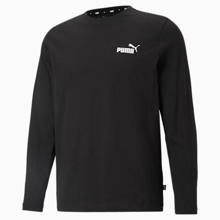 Essentials Long Sleeve Men's Tee, Puma Black, small