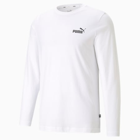 T-shirt à manches longues Essentiels pour homme, Puma White, small