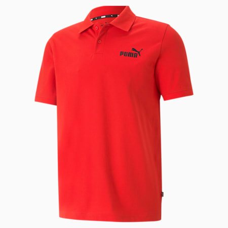 Essentials Pique Men's Polo Shirt, High Risk Red, small
