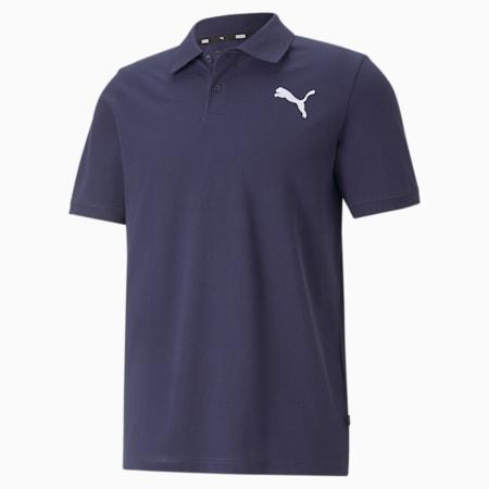 Essentials Pique Men's Polo Shirt, Peacoat-cat, small