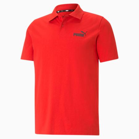 Essentials Men's Polo Shirt, High Risk Red, small-SEA