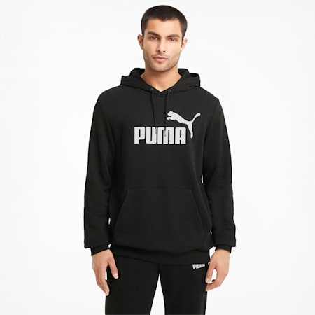 Essentials Big Logo Men's Hoodie, Puma Black, small-GBR