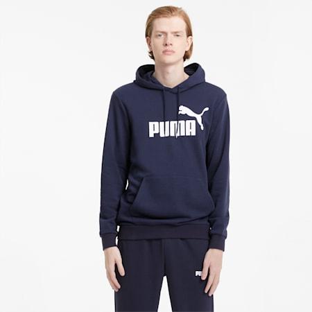 Essentials hoodie met groot logo heren, Peacoat, small