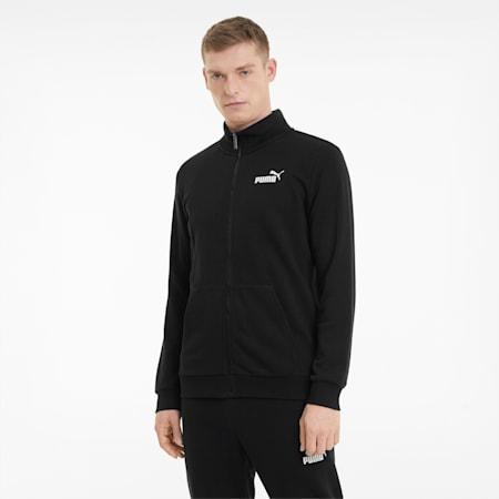 Essentials Men's Track Jacket, Puma Black, small-GBR