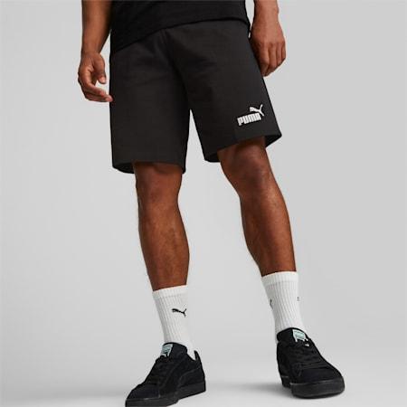 Essentials Jersey Men's Shorts, Puma Black, small-GBR