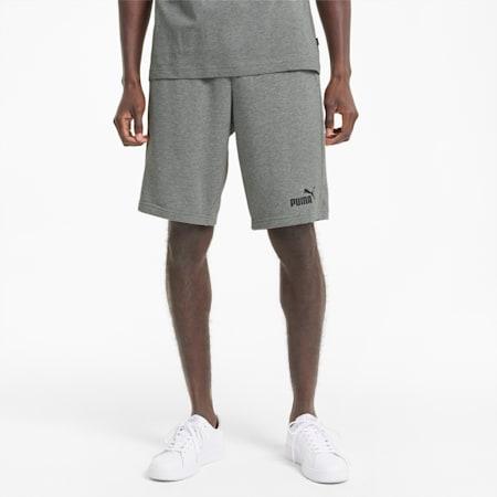 Essentials Regular Fit Knitted Men's Shorts, Medium Gray Heather, small-IND