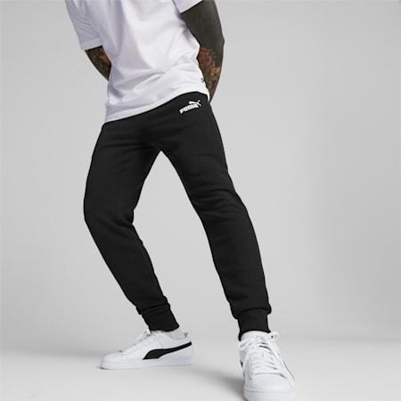 Pantaloni con logo Essentials uomo, Puma Black, small