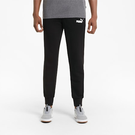 Essentials Logo Men's Sweatpants, Puma Black, small-GBR