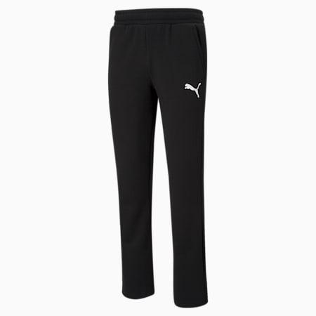 Essentials Logo Men's Pants, Puma Black-Cat, small-GBR
