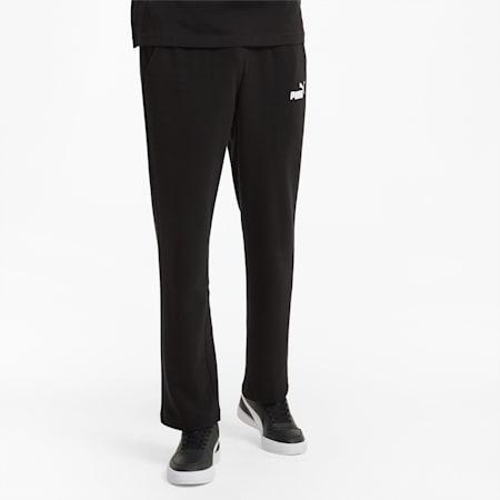 에센셜 로고 테리 팬츠/ESS Logo Pants, Puma Black, small-KOR