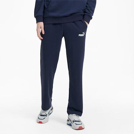 Essentials joggingbroek met logo heren, Peacoat, small