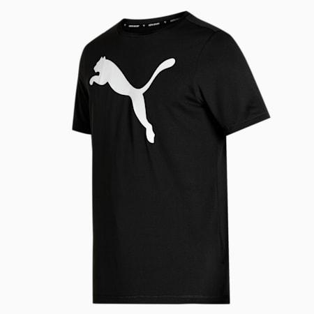 Active Big Logo Men's  T-shirt, Puma Black, small-IND
