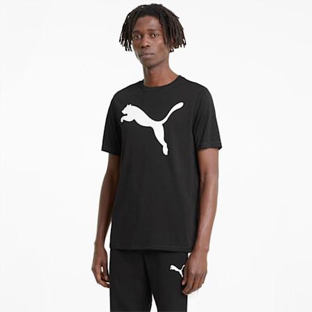 Active Big Logo Men's Tee, Puma Black, small