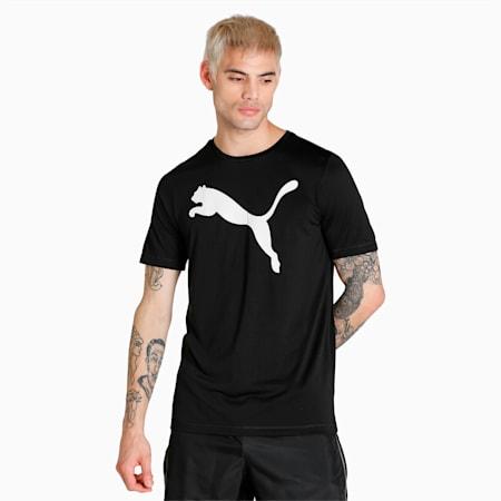 Active Big Logo Regular Fit Men's  T-shirt, Puma Black, small-IND