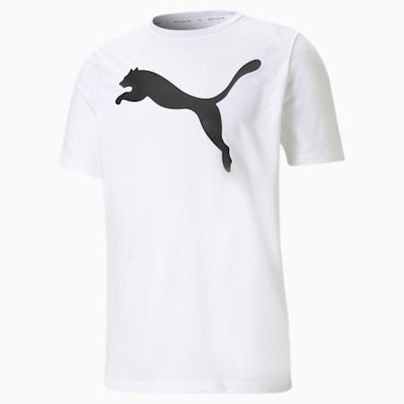 Active Big Logo Men's  T-shirt, Puma White, small-IND