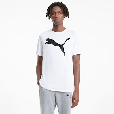 Active Big Logo Men's Tee, Puma White, small