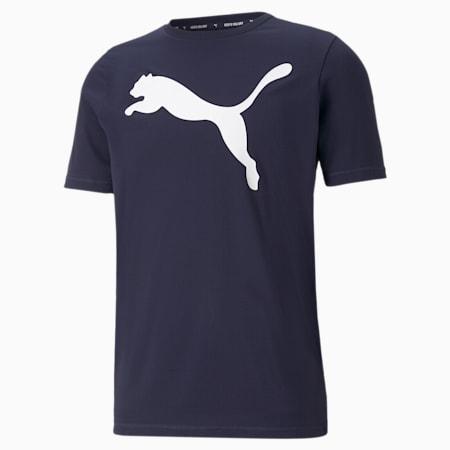Active Big Logo Men's  T-shirt, Peacoat, small-IND