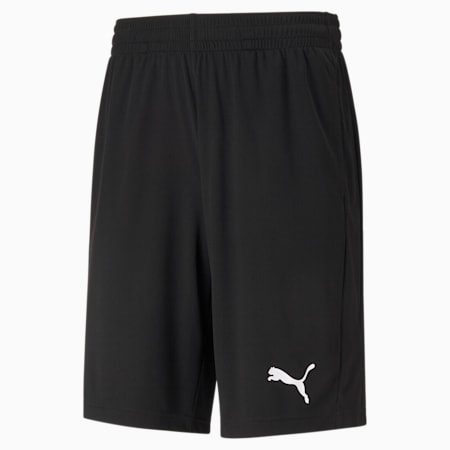 Active Interlock Regular Fit Men's Shorts, Puma Black, small-IND