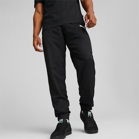 Męskie spodnie Active z tkaniny, Puma Black, small