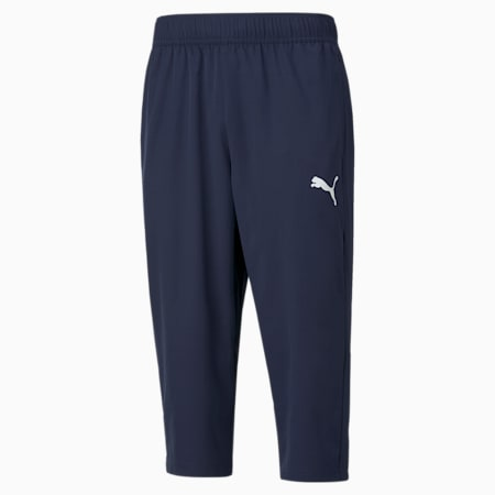 Active Woven 3/4 Regular Fit Men's Sweat Pants, Peacoat, small-IND