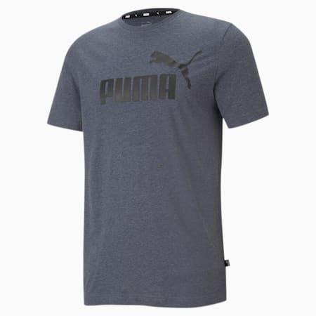 Essentials Heather Regular Fit Men's T-shirt, Peacoat, small-IND