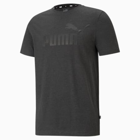 Essentials Heather Regular Fit Men's T-shirt, Dark Gray Heather, small-IND