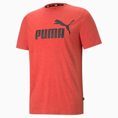 Essentials Heather Men's Tee, High Risk Red, small