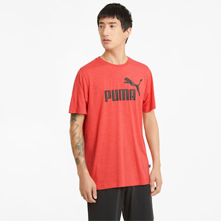 T-shirt Essentials Heather homme, High Risk Red, small