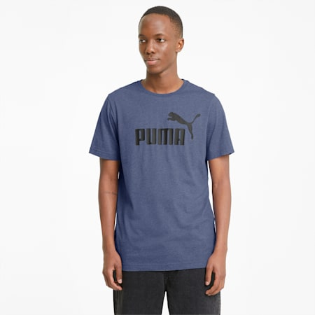 T-shirt Essentials Heather homme, Elektro Blue, small