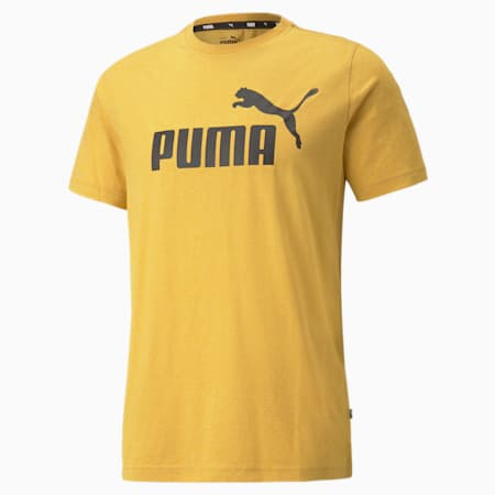 Essentials Heather Regular Fit Men's T-shirt, Mineral Yellow, small-IND