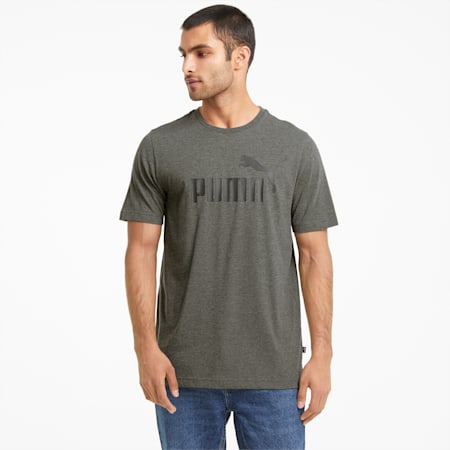 Essentials Heather Men's Tee, Forest Night, small-GBR