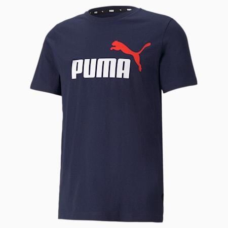 Essentials+ 2 Colour Logo Men's  T-shirt, Peacoat, small-IND