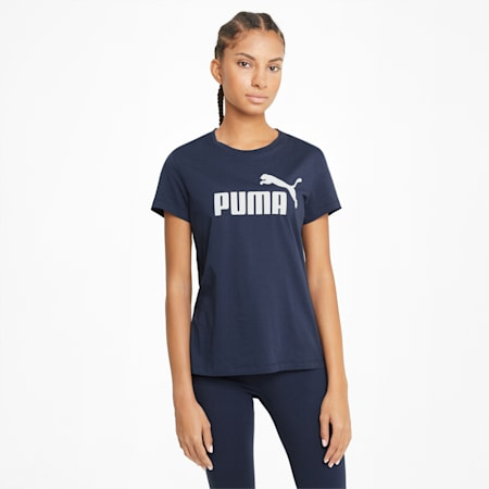 Essentials Logo Women's Tee, Peacoat, small