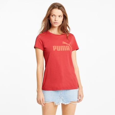 Essentials Logo Damen T-Shirt, American Beauty, small
