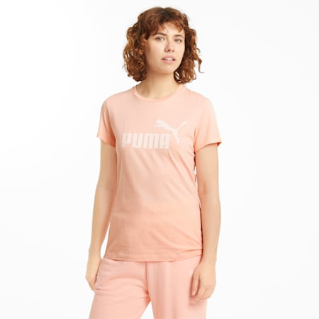 Essentials Logo Women's Tee, Apricot Blush, small