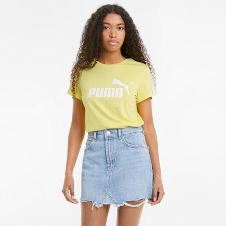 Essentials Logo Damen T-Shirt, Celandine, small