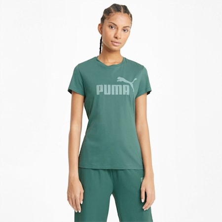 T-shirt Essentials Logo femme, Blue Spruce, small
