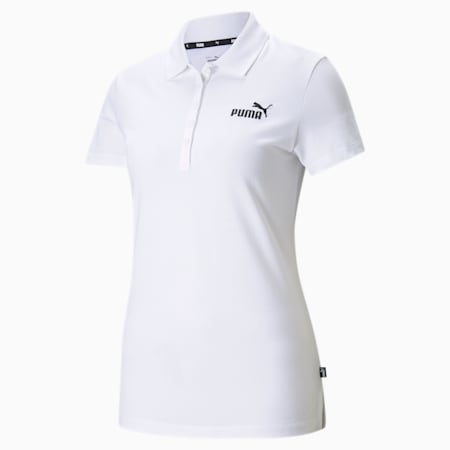 Essentials Women's Polo Shirt, Puma White, small-IND