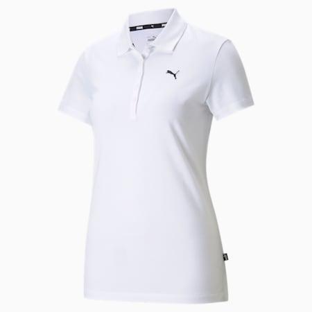 Essentials Women's Polo Shirt, Puma White-CAT, small