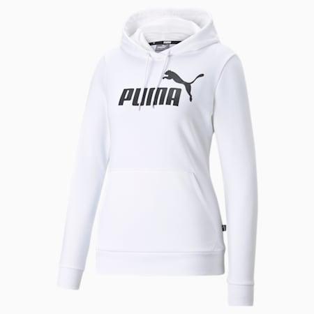 Essentials Logo Women's Hoodie, Puma White, small-GBR