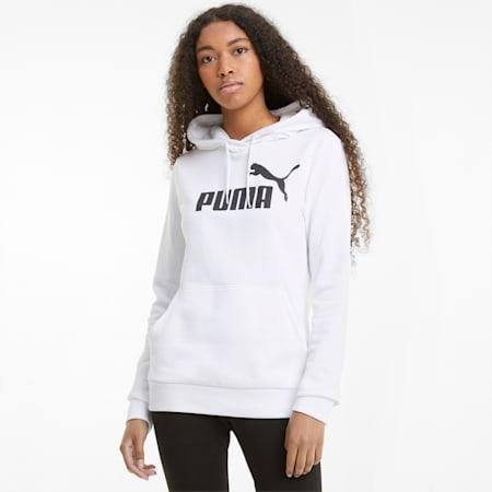 Essentials Logo Women's Hoodie, Puma White, small