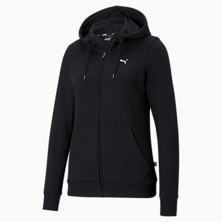 Essentials Full-Zip Women's Hoodie, Puma Black-CAT, small-SEA
