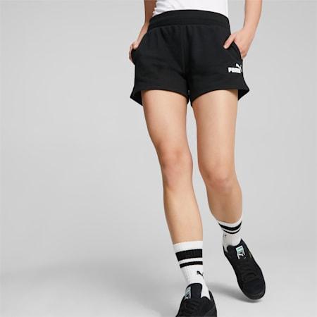 Essentials Women's Sweat Shorts, Puma Black, small