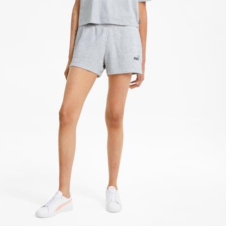 Shorts deportivos Essentials para mujer, Light Gray Heather, small